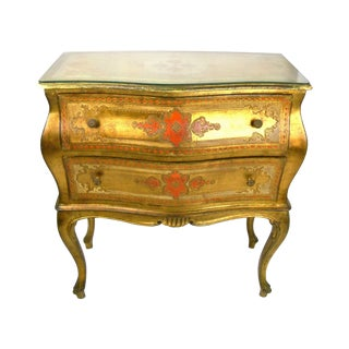 Venetian Two-Drawer Serpentine Commode