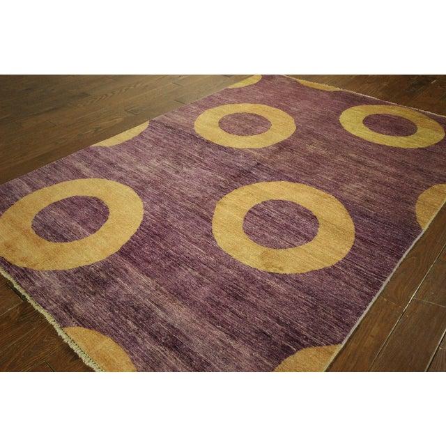 "Image of Modern Purple Gabbeh Area Rug - 5'7"" x 8'2"""