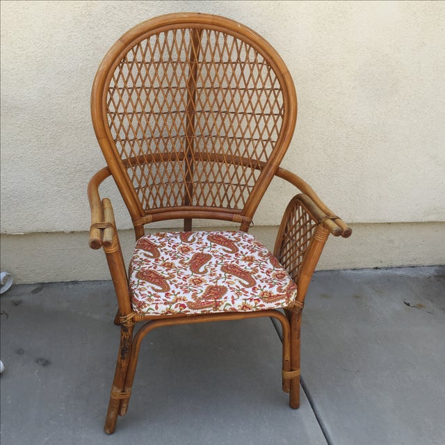 Vintage Rattan Bamboo Chair - Image 2 of 11