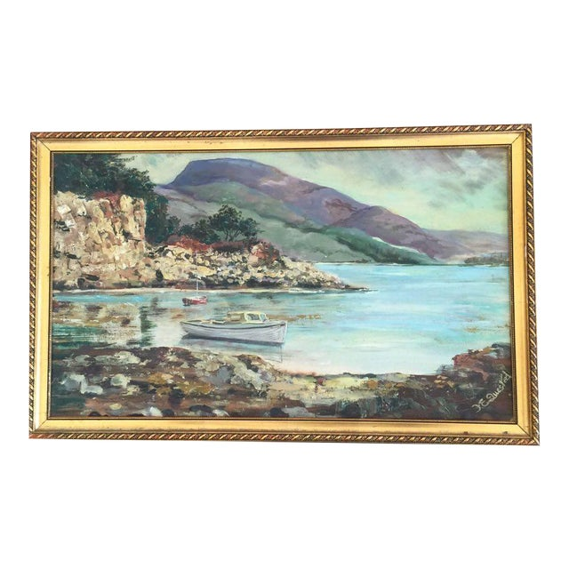 Vintage Cove Painting - Image 1 of 3