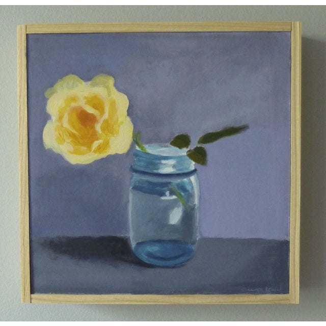"Original Painting ""Yellow Rose"" - Image 4 of 7"