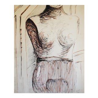 1965 Dress Form Drawing by Myrna Nobile