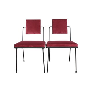 Metal Mid-Century Modern Chairs - A Pair