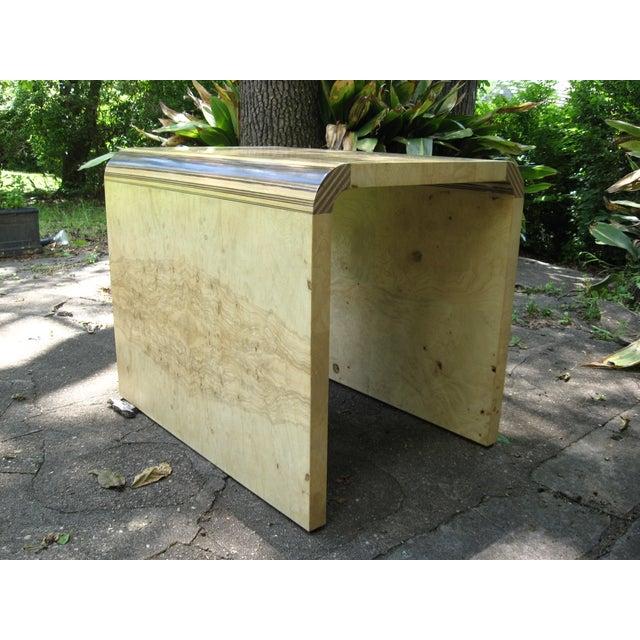 Henredon Olive Burl and Ebony Side Table/Stool - Image 2 of 10