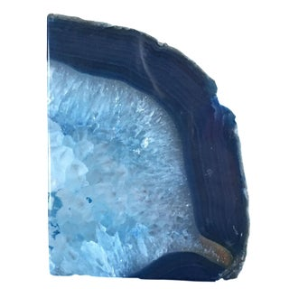Blue Agate Bookend