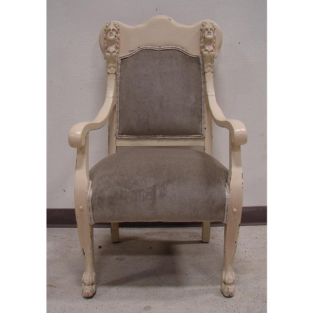 Vintage Antique Victorian Upholstered Chair - Image 3 of 5