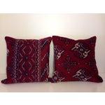 Image of Vintage Turkish Kilim Pillows - A Pair