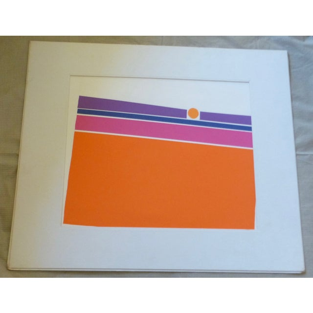 """Orange Landscape"" a Mod Print by Calvin Libby - Image 2 of 8"
