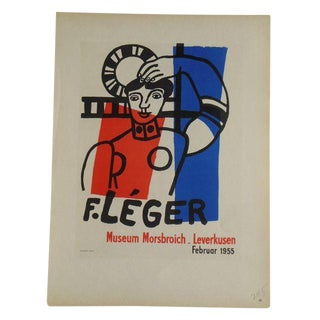 Leger Mid 20th C. Modern Lithograph-Printed in Paris by Mourlot