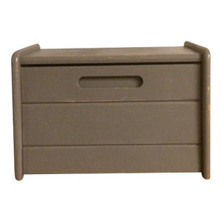 Gray Rustic Breadbox