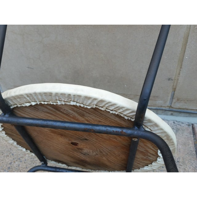 Mid-Century Petite Wrought Iron Cafe Chairs - Pair - Image 8 of 9