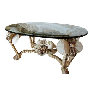 Glass Top Shell Coffee Table