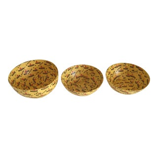 Wola Nani Lion Match Papier-Mache South African Bowls - Set of 3