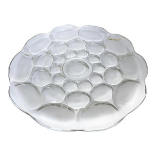Heisey Glass Whirlpool Provincial Large Glass Serving Platter