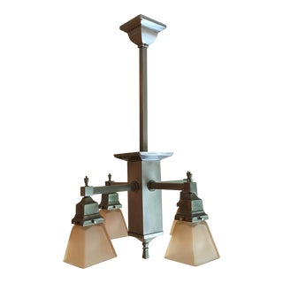 Craftsman Pendant Light Chandelier Plus 4 Single Pendants
