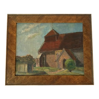 """Village Church"" Oil Painting"