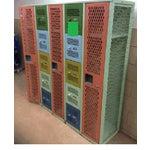 Image of Vintage Mesh Steel Multicolor Lockers