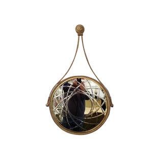 Iron Gilded Circular Mirror