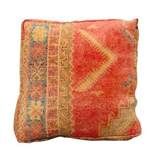 Tan & Red Vintage Moroccan Floor Pillow