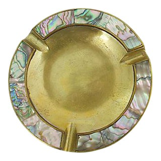 Inlaid Abalone Ashtray