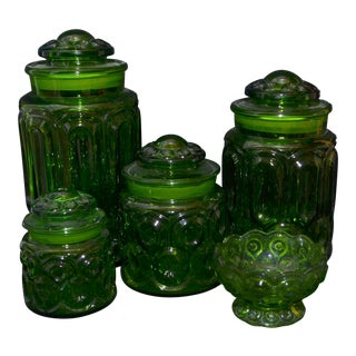 l.E. Smith Moon & Stars Canisters - Set of 4