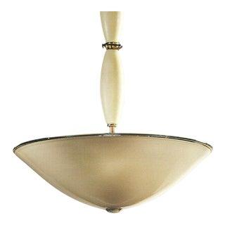 Modern Neoclassical Ivory Murano Glass Pendant
