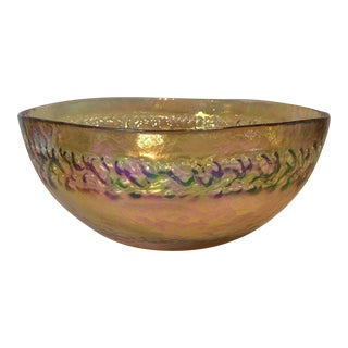 Amber Art Glass Bowl by Yalos Casa Murano