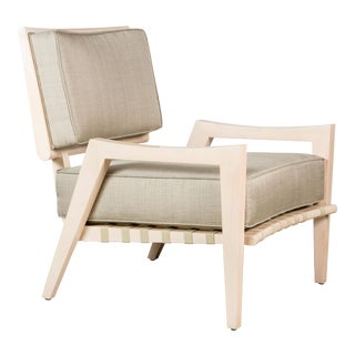 Paul Marra Low Lounge Chair in Bleached Maple