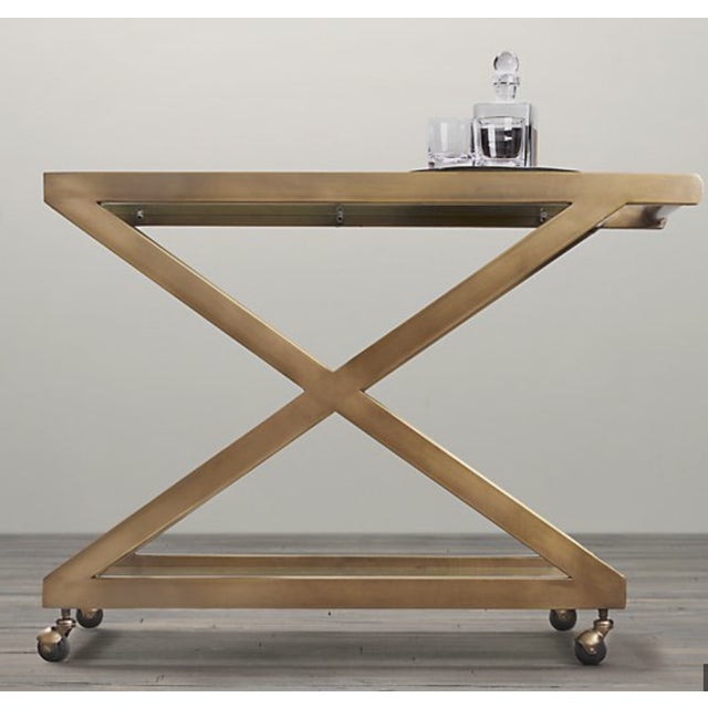 Restoration Hardware Milo Bar Cart - Image 9 of 11