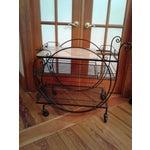 Image of Wrought Iron & Marble Bar Cart