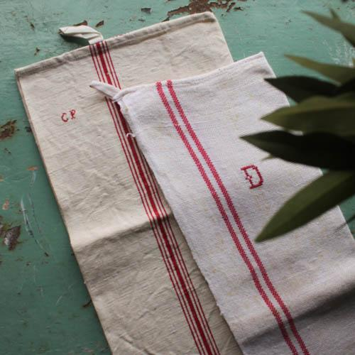 Vintage French Linen Hand Towels - Pair - Image 3 of 5
