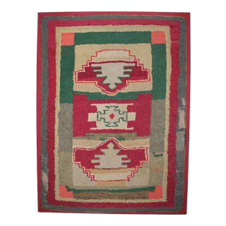 Large Early 20thc Mounted Rug