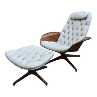 George Mulhauser for Plycraft Mid-Century Chair & Ottoman