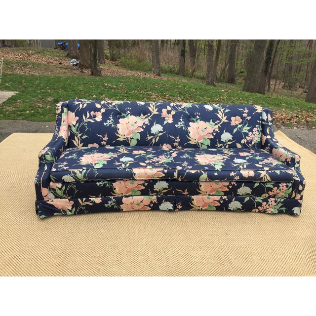 Vintage Blue Pink Floral Couch Chairish