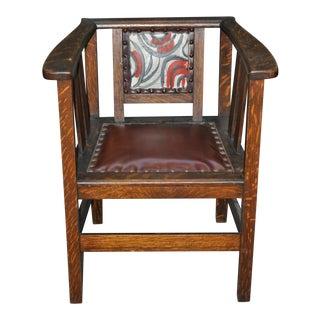 1910 American Mission Oak Arm Chair