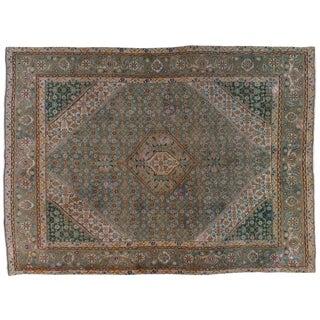 "Vintage Persian Tabriz Rug - 8'1"" X 10'11"""