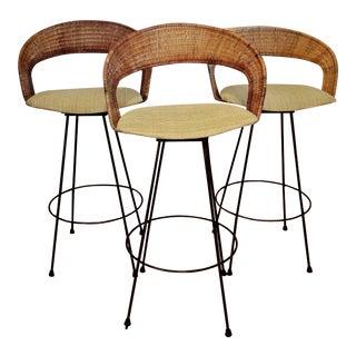 Arthur Umanoff-Style Barstools - Set of 3