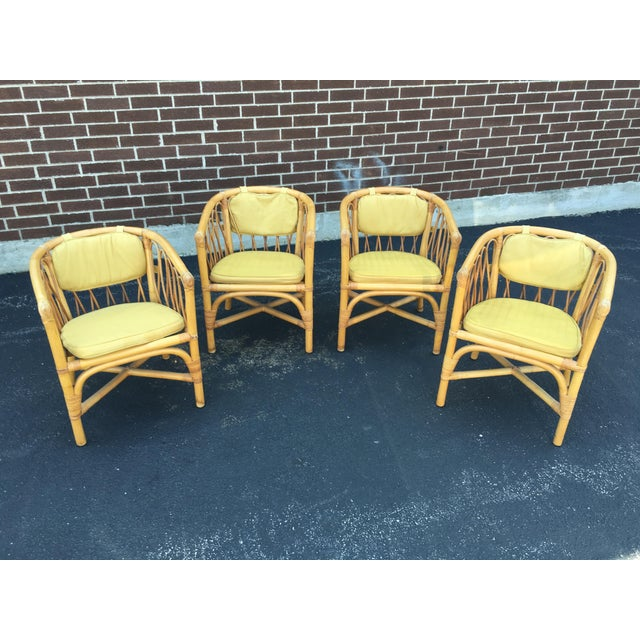 Vintage Ficks & Reed Rattan Barrel Chairs - 4 - Image 2 of 11