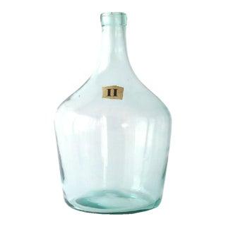 French Hand Blown Demijohn Bottle