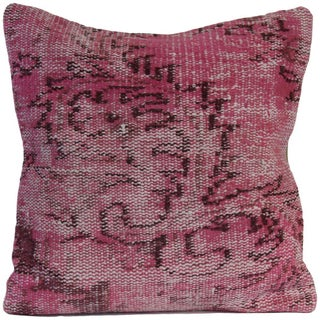 Vintage Pink Handmade Overdyed Pillow Cover