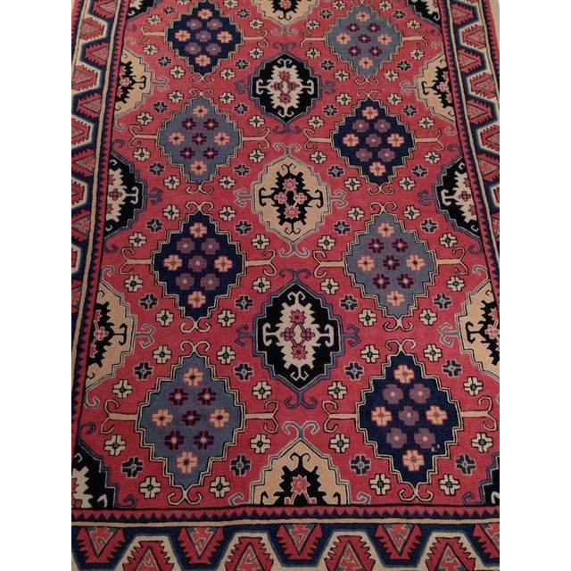 Pasargad Indian Red Chain Stitch Rug - 4' X 6'