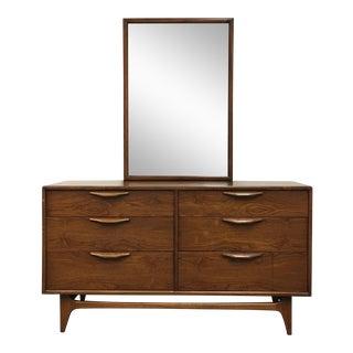 Lane Furniture Mid-Century Dresser & Mirror