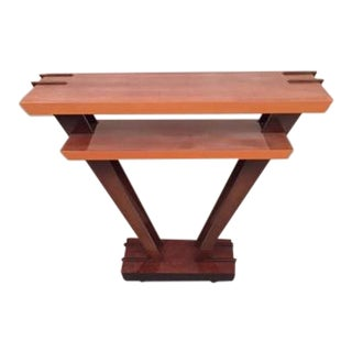 Leavitt Weaver Deco Burl Wood Console