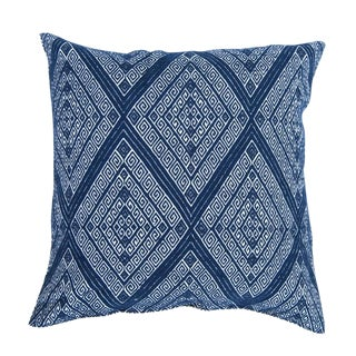 Navy Blue Diamond Handwoven Pillow