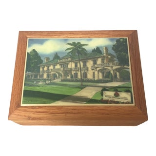 """Tournament of Roses House"" Oak Desk Box"