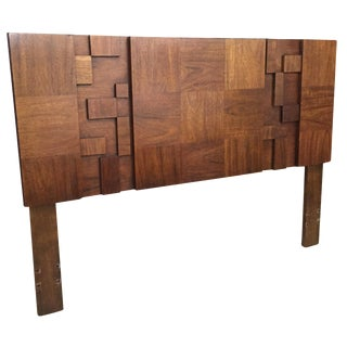 "Lane Brutalist ""Mosaic"" Queen Headboard"