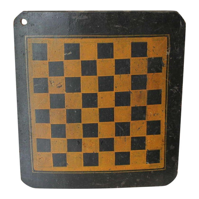 19th Century Original Painted Checkers Game Board - Image 1 of 6