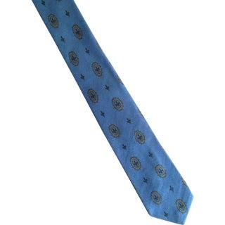 1950s Silk Wembley Foulard Skinny Tie