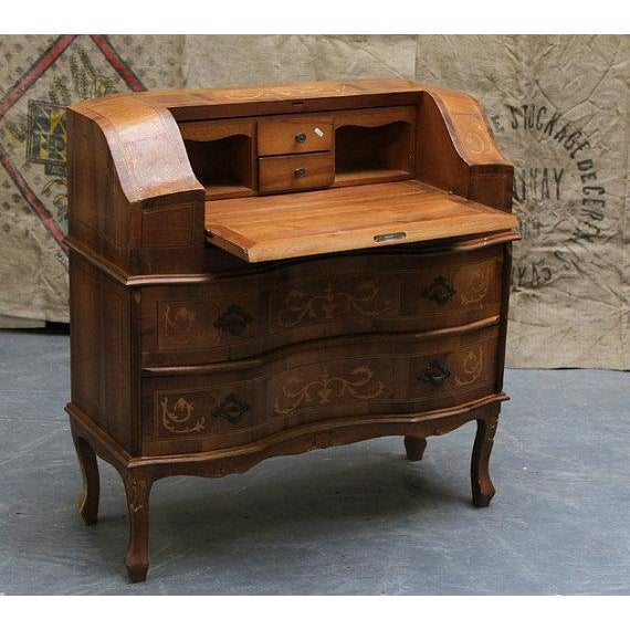 Antique 1800s French Wooden Secretary Desk - Image 3 of 6