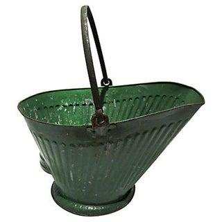 Vintage Green Ash Scuttle